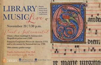 Library Music flyer