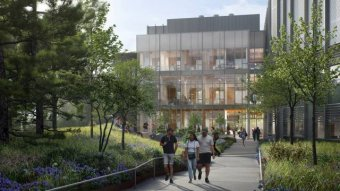 architectural rendering of new home for Environmental Studies and the School of Engineering and Applied Science