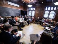 The Princeton University community attended round table discussion groups about service