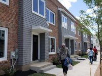 A photo of the new homes on North Clinton Avenue in Trenton, New Jersey.