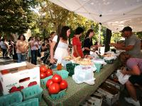 The Princeton University Farmers' Market, held on the Firestone Library/Chapel Plaza, offers a range of items including organic fruits and vegetables, artisanal cheese, locally sourced honey, cold-pressed juice, nut butters, locally made breads, organic s